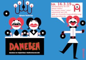 daneben party flyer