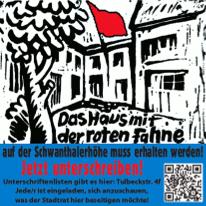 """Unterschriftenkampagne: Für den Erhalt des """"Haus mit der Roten Fahne"""""""
