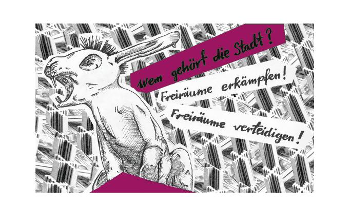 """""""Hasi bleibt! Freiräume verteidigen"""""""